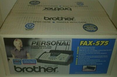 BROTHER Personal FAX-575 Plain Paper Fax Phone & Copier Brand New