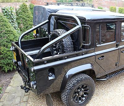 "Land Rover Defender 3"" Roll Hoop Bar Cage 90 110 Bison Cosmetic Rear Tube Pickup"