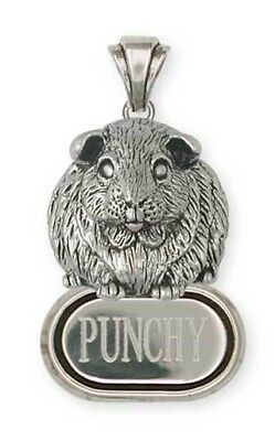 Sterling Silver Personalized Guinea Pig Pendant Jewelry  GP1-DP