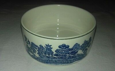 Arklow Pottery Ireland Willow Pattern Open Sugar Bowl 4 1/2""