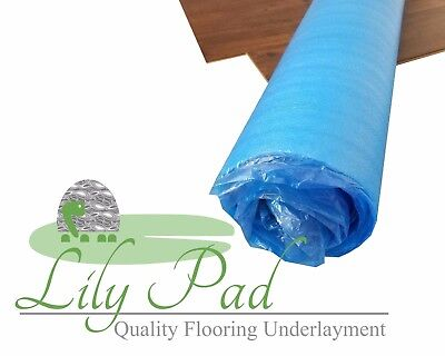 3mm EPE Blue Laminate Flooring Underlayment Foam - LILY PAD 400 SF - Best Value!