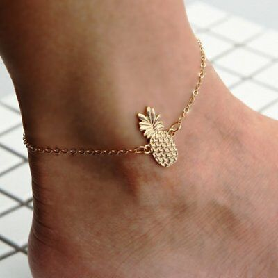 Fashion Pineapple Chain Anklet Ankle Bracelet Barefoot Sandal Beach Foot Jewelry