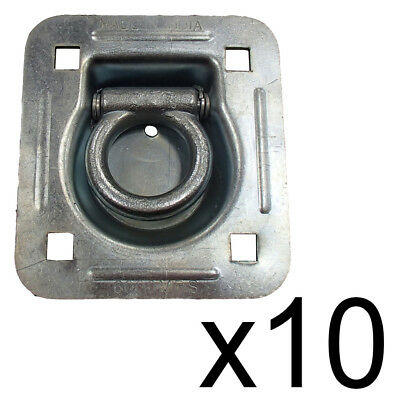 Recessed D-Ring 10 Pack Flatbed Truck Trailer 6,000 lb. Capacity Tiedown RDR5