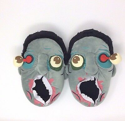 Zombie Slippers House Shoes Unisex One Size Bloody Brains Walker Eye Popped Out