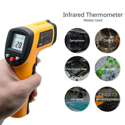 Non-Contact Digital IR Infrared Thermometer Handheld Laser Temperature Gun TD