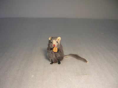 Vintage Real Fur Mouse with Corn Kernal !! Russ Berrie ?