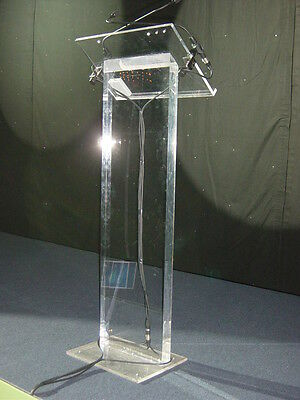 Perspex Lectern presentation desk, podiums and staging
