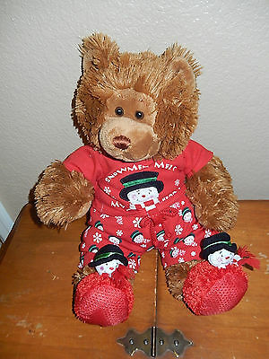 """Build-a-Bear Workshop Teddy Bear 17"""" Brown Retired Fuzzy Short Fur in outfit"""