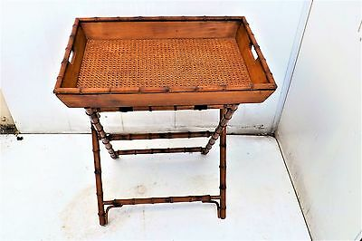 Regency  Japanese influence Butlers tray & Stand in bamboo