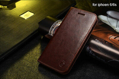 MUSUBO Leather Wallet Card Holder Stand  Flip Case Cover for Apple iPhone 6 6s