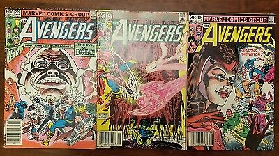 Marvel Avengers comic lot of 3! Issues 229, 231, and 234