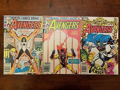 Marvel Avengers comic lot of 3! Issues 224, 225, and 227