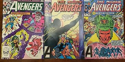 Marvel Avengers comic lot of 3! Issues 235, 242, and 243