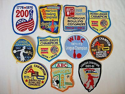 11 Bowling Championship Patches - 60's & 70's