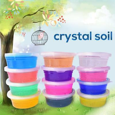 Transparent Crystal Clay 12Colors Kids Toys Slime Kids Educational Mud Creative