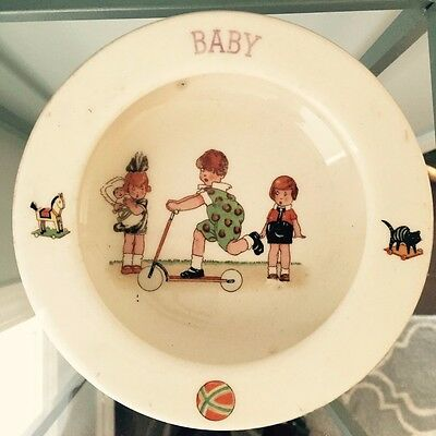 "Baby Dish Marked Mode La Czech, 5 3/4"" Across, 1 1/2"" Tall, Likely Vintage"