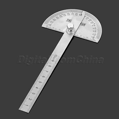 90x100mm Protractor Stainless Steel Angle Finder Arm Ruler Measuring Tool d5fc