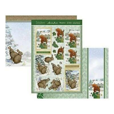 Hunkydory - Tis The Season Decoupage Set A4 Festive Squirrel & Christmas Bunnies
