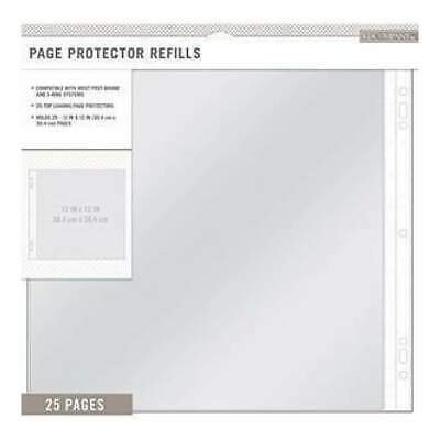 NEW K & Co - Page Protector Refills 12 Inch X12 Inch  25 Pack