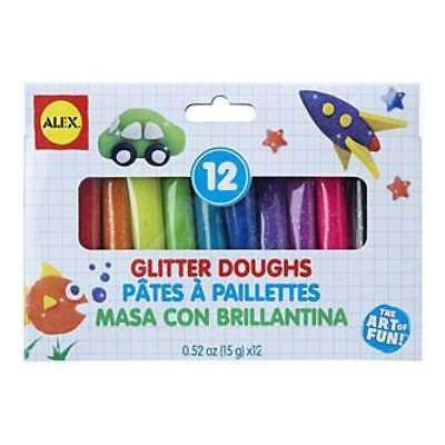 NEW Alex Toys  - Dough Set 12Pc Glitter