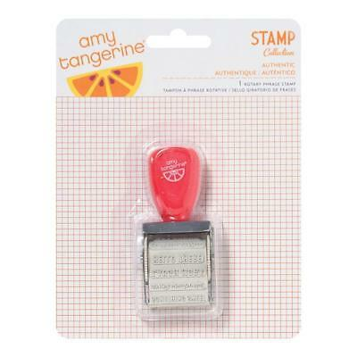 NEW American Crafts Amy Tangerine Yes Please Roller Stamp 12 Phrases