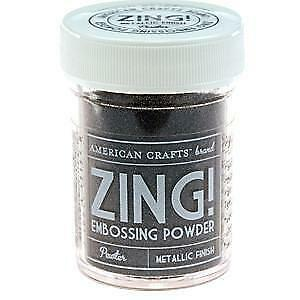 NEW American Crafts 1Oz Zing Embossing Powder - Pewter