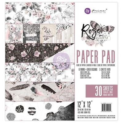 Prima Marketing Double-Sided Paper Pad 12 inch X12 inch  30 pack  Rose Quartz
