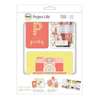 NEW Project Life Value Kit 130 Pack Sprinkles Cards & Die-Cuts W/Glitter
