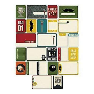 NEW Becky Higgins - Project Life - Themed Cards 40 Pack - Dad