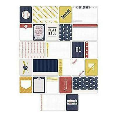 NEW Becky Higgins - Project Life - Themed Cards 40 Pack - Baseball