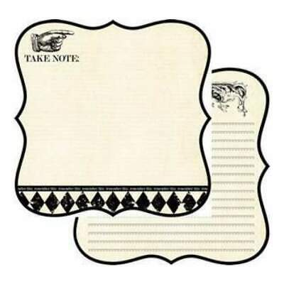 Teresa Collins - Notations - Take Note D/Sided 12X12 Die-Cut Paper  (Pack Of 10)