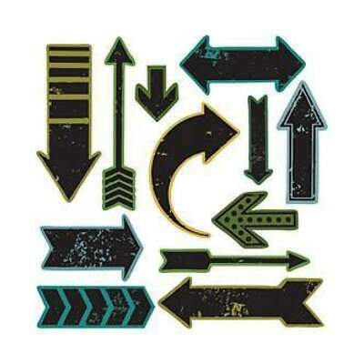 NEW Sizzix Framelits Dies W/Clear Stamps By Tim Holtz Here & There (E4)