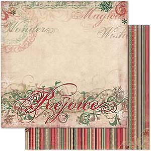 NEW Bo Bunny Press - Rejoice - Rejoice 12X12 D/Sided Paper (Pack Of 10)