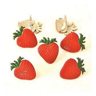 NEW Eyelet Outlet Shape Brads 12 Pack Strawberries