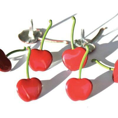 NEW Eyelet Outlet Shape Brads 12 Pack Cherries
