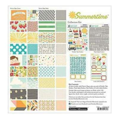 NEW October Afternoon Collection Kit 12Inch X12inch  Summertime