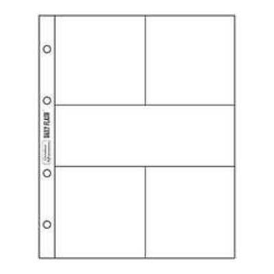 NEW Daily Flash - 6X8 Page Protectors - 3X3 Pockets