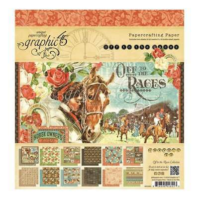Graphic 45 Double-Sided Paper Pad 8 inch X8 inch 24 pack Off To The Races, 12...