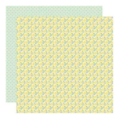 NEW Lilybee Design - Pinwheel - Flower Box 12X12 D/Sided Paper  (Pack Of 10)