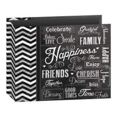 NEW Pioneer 3-Ring Binder Chalkboard Album 12In. X12in.  Happiness