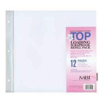 NEW Top Loading - Mbi Page Protectors 12X12 - 6 Pack
