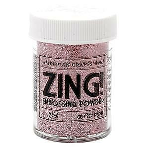 NEW Zing! Glitter Embossing Powder 1Oz Pink