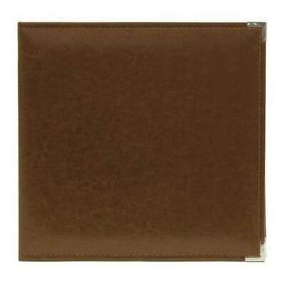 NEW We R Classic Leather D-Ring Album 12 inch X12 inch Dark Chocolate