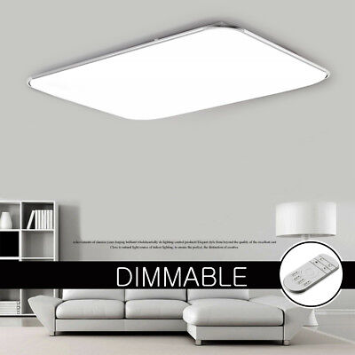 16W-96W Slim LED Ceiling Light  Dimmable Square Rectangle Living Room Bedroom