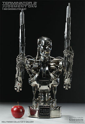 T-800 Endoskeleton 1/2 Scale Bust VERY RARE Hollywood Collectors NEW