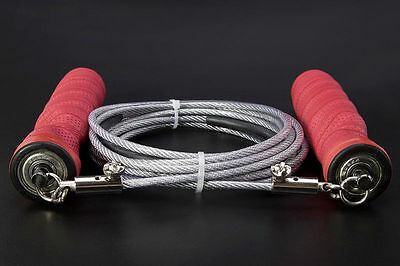 Gym Training Jump Rope Adjustable Steel Wire Speed Skipping Crossfit Exercise WS
