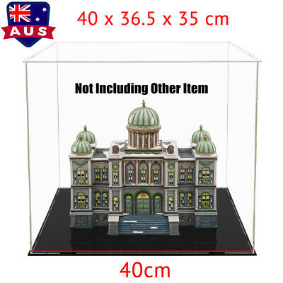 AU 40cm Large Acrylic Display Box Perspex Case Plastic Self-Assembly Dustproof