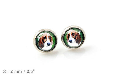 Basset Hound. Pet in your ear. Earrings. Photojewelry. Handmade. USA