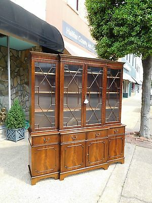 Grand Chippendale Mahogany Dining Room Breakfront 20th century.
