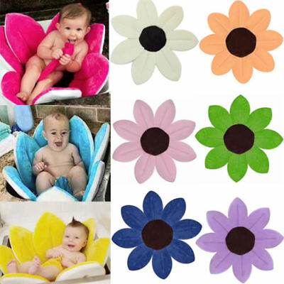 Pink Flower Bath Baby Bath Tub Mat Baby Blooming Sink Infant Safety Security